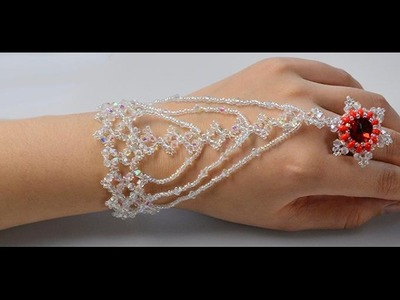 Detailed Tutorial on How to Make a Bling Beaded Slave Bracelet with Glass Beads and Seed Beads