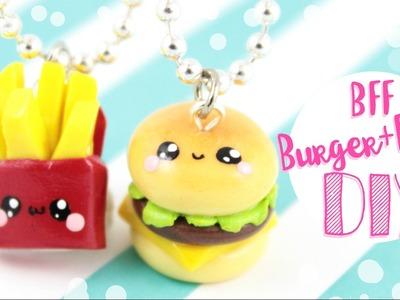 ♡ DIY Burger & Fries BFF CHARMS!! ♡ | Kawaii Friday