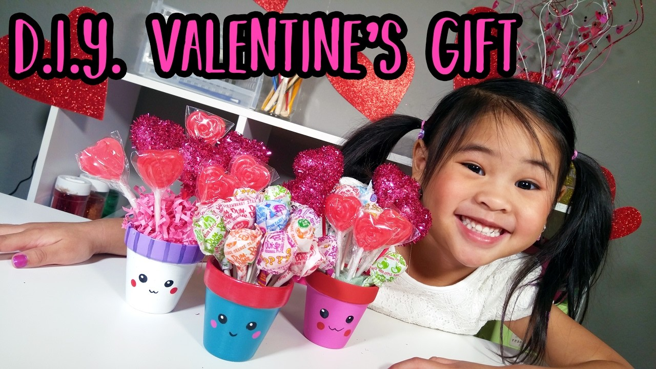 DIY Cute Valentine's Gift | Kawaii Flower Pot Tutorial