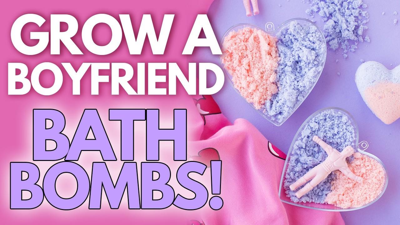 DIY Grow-A-Boyfriend Bath Bombs for Galentine's Day!!
