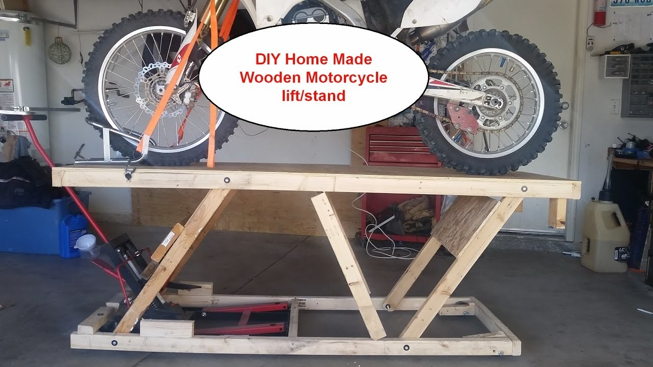 DIY Home made Wooden Motorcycle lift stand Table under $20, Almost ready