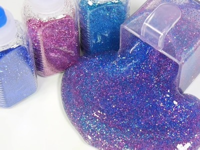 DIY How To Make 'Colors Glitter Galaxy Clay Slime' Real Strawberry Rain Drop Jelly Gummy Pudding