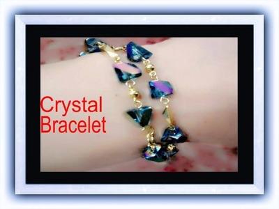 DIY How to make elegant Crystal Bracelet for Valentine's day( Very easy to do ) February 2 - 2017