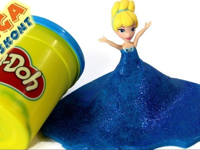 DIY - How to make Glitter Dress for Cinderella & Ice cream with Heart? - Play-Doh & Disney Princess
