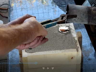 DIY Metal casting flywheel using homemade green sand for wind generator