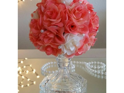 DIY: MINI ROSE BALL WEDDING DECOR UNDER $5.00 TO MAKE