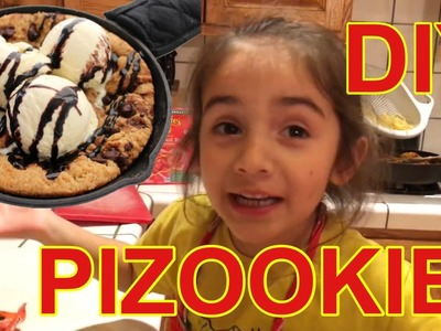 DIY PIZOOKIE - HOW TO MAKE YOUR OWN PIZOOKIE DESSERT PIE w. @LunaReezy
