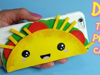 DIY TACO PHONE CASE! Cute kawaii phone case idea