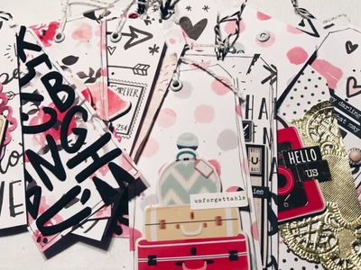 DIY Tags Process Video #1 - CRATE PAPER HELLO LOVE + HEART DAY