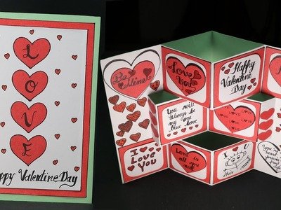 DIY Valentine Card - Pop Up Valentine Day Card Making Step by Step
