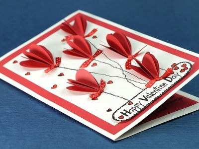 DIY Valentine Day Card - Valentine Pop Up Heart Card Step By Step