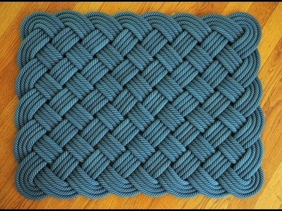 Doormat from old rope - how to make a beautiful doormat from old rope