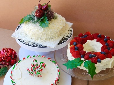 Easy Christmas recipe: How to decorate a Christmas cake 3 ways