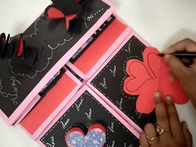 Easy Scrapbook With Cards For Valentine's Day | How To | CraftLas