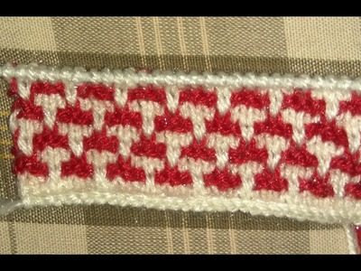 Easy Two Color Knitting Design No.17| Hindi