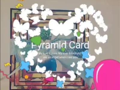 Handmade Pyramid card : small gift Idea