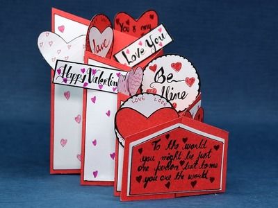 Happy Valentine's Card - DIY Valentine Cascade Card Tutorial