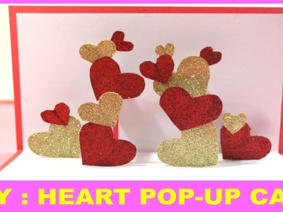 Heart POP-UP card | Valentine's day handmade greeting card