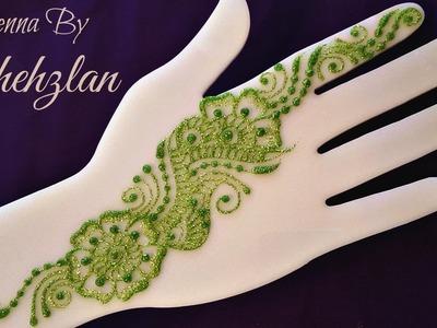 Henna By Shehzlan: How To Henna Tutorial #46 (Sangeet Strip)