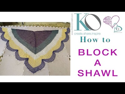 How to Block a Scalloped Triangle Crochet Shawl Free Pattern