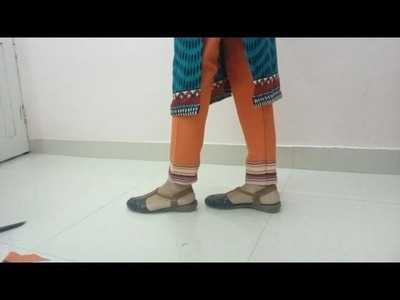 How To Cut Slacks. Straight Pant Pajami. Biased, samosa cut, ureb,Chudidar : DIY Easy