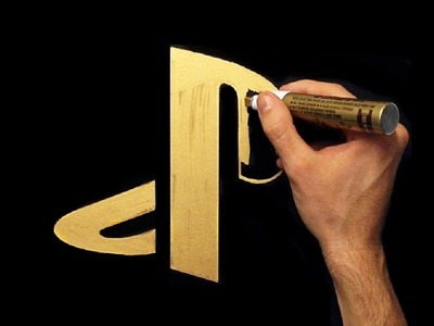 How To Draw Gold PlayStation Logo