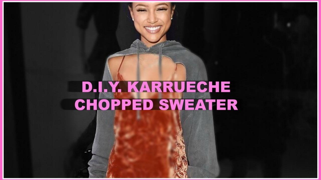 HOW TO: Karrueche Cropped Sweater