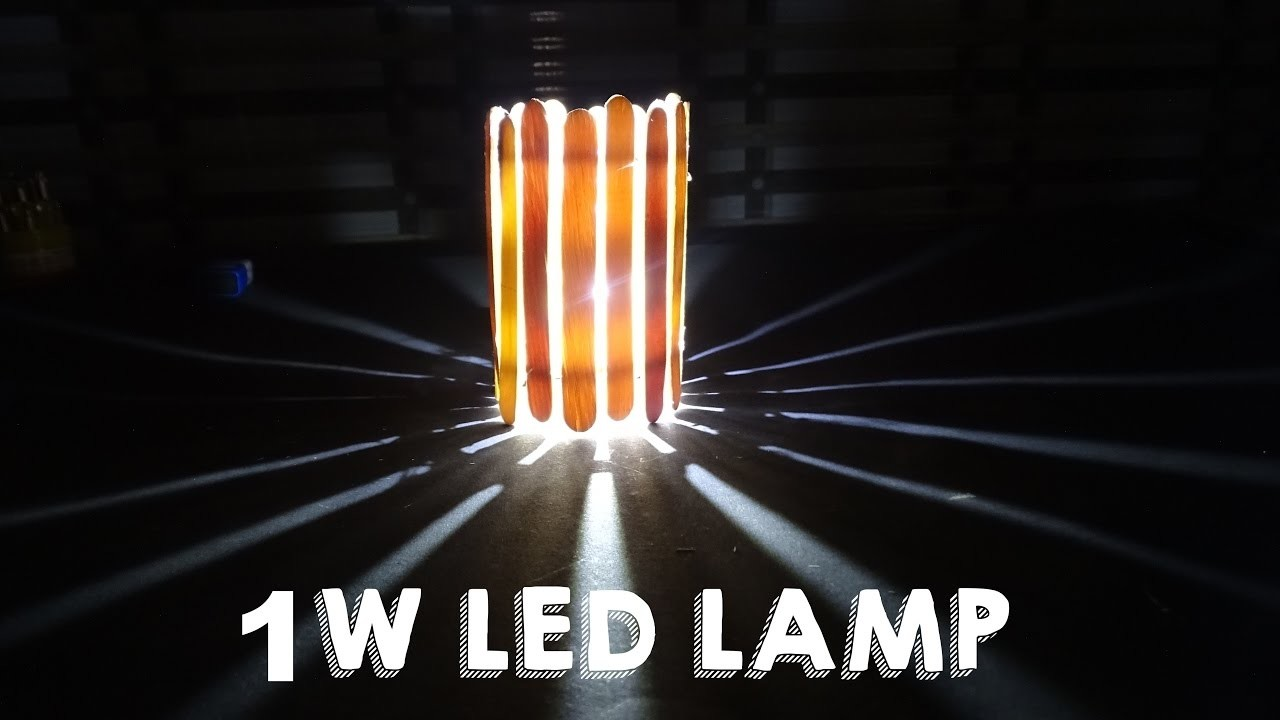 How To Make 1W Wall Light using of wooden sticks easy way kasnox