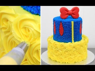 How To Make a Disney SNOW WHITE Cake - Buttercream Decorating by CakesStepbyStep