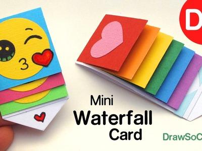 How to Make a mini WATERFALL CARD - DIY Fun Easy Craft