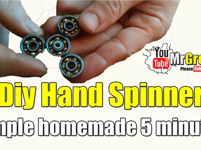 How To Make A Spinner Fidget Toy. Diy Hand Spinner