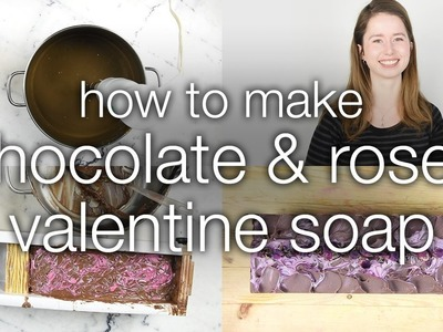 How to Make Chocolate and Roses Vegan Valentine Soap