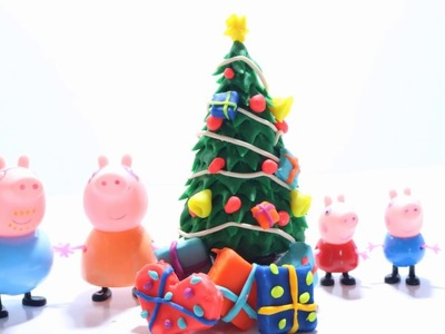 How To Make Christmas Tree with Play-Doh - Play Doh Peppa Pig Christmas Tree
