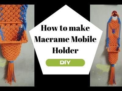 How to make macrame mobile Holder | macrame mobile hanger |DIY