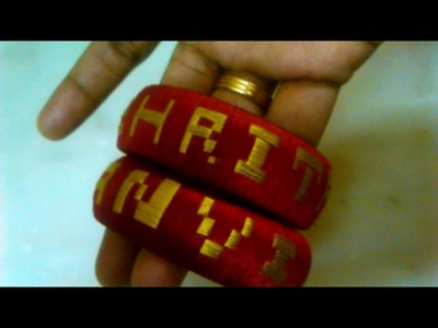 How to make name bangles using silk thread