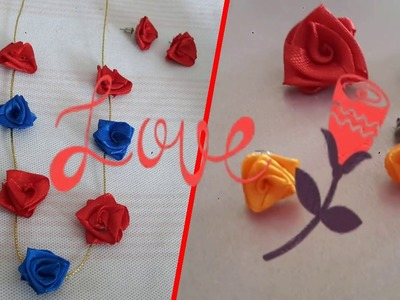 How to Make Necklace and Earring with Satin Ribbon, DIY Gifting Ideas, Valentine Special DIY