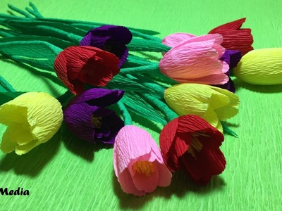 How to make origami diy rose crepe paper flower easy & fast.paper flower craft tutorial