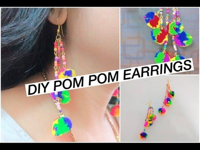 How to make Pom Pom Earrings | Craftziners #56 | Jewelry Series