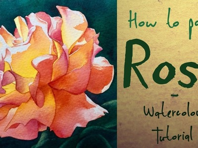 How to paint a Pink & Yellow Rose - Watercolour tutorial