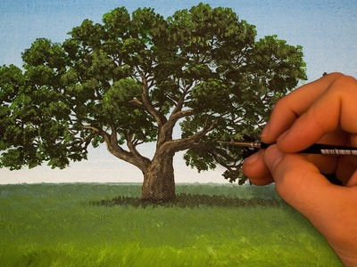 How to Paint a Tree Using Acrylics | Quick Acrylic Painting Tips