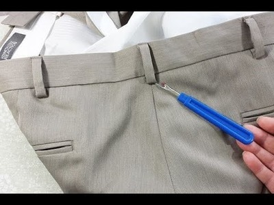 How To Take In Or Let Out Men's Dress Pants At The Waist