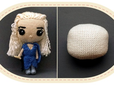 Кукла Дейенерис Таргариен крючком, часть 1. Crochet Daenerys Targaryen, part 1. Game of Thrones.