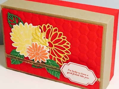 Large Handmade Gift Box with Special Reason by Stampin' Up