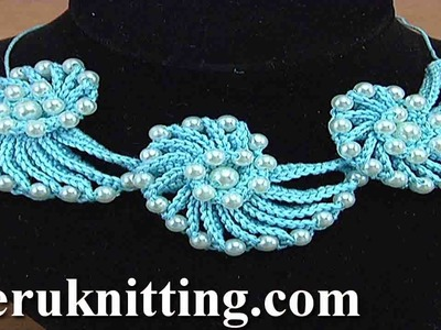 Learn How to Crochet Cord Necklace Demo Version Tutorial 144