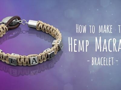 Learn to make a macrame hemp and leather bracelet   Metal Beads