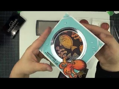 Local King Rubber Stamp tutorial #56 how to create a spining card and resising with clear embossing