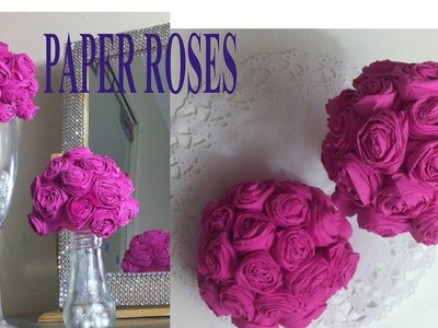 Paper towel rose balls for party decor,wedding,home decor.