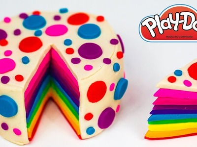Play Doh Cake Rainbow Cake How to Make Rainbow Play Doh Cake Play Doh Food Kitchen