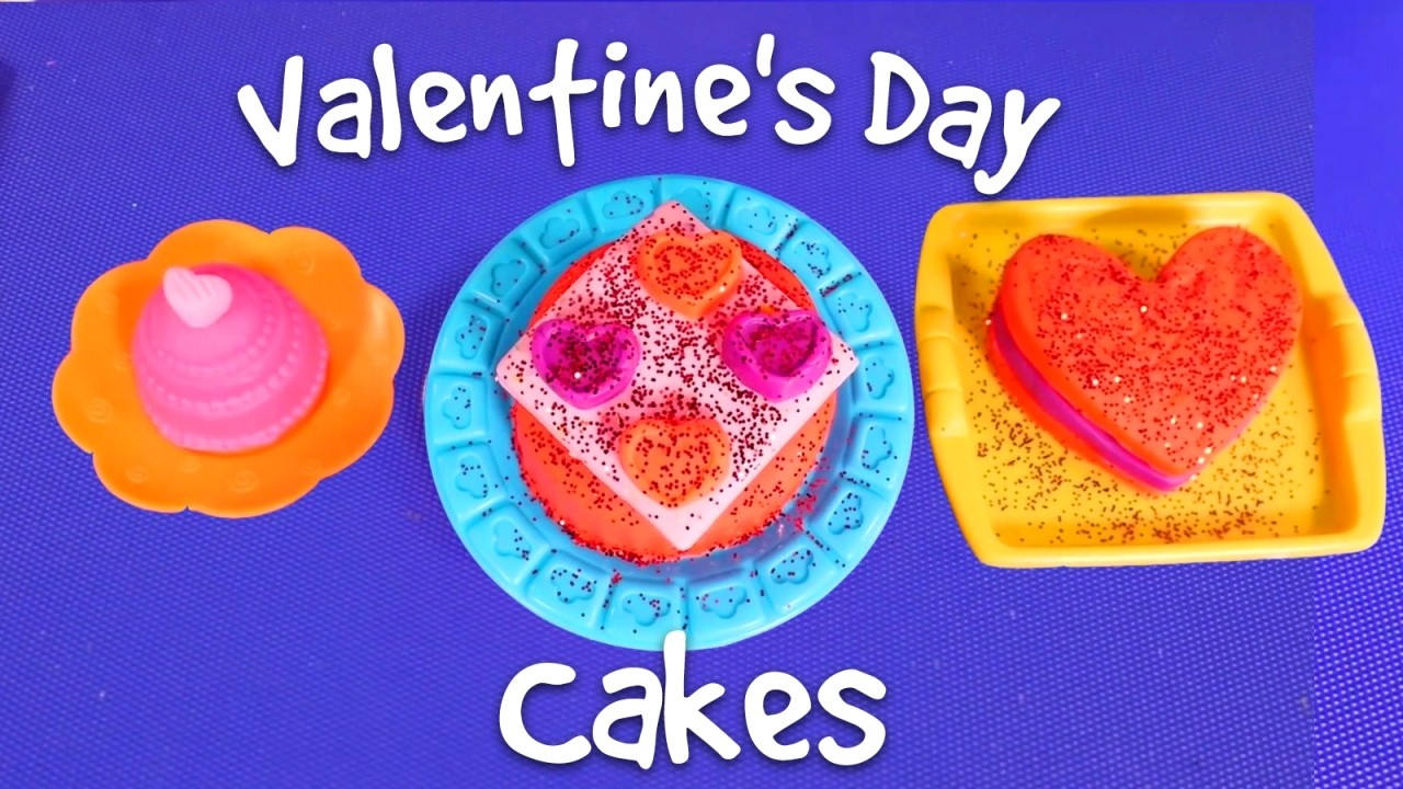 Play Doh Cakes for Valentine's Day 2017 ❤️️ DIY Valentine's Day gifts for Barbie #valentinesday ❤️️