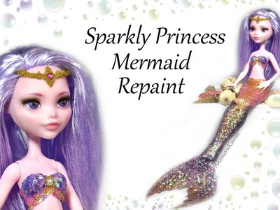 Princess Mermaid Doll Repaint - DIY Craft Tutorial